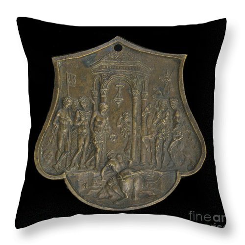Throw Pillow featuring the photograph The Death Of Marcus Curtius by Master Io.f.f.