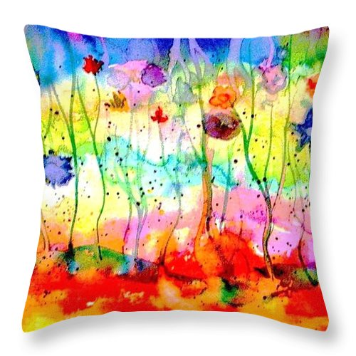Water Throw Pillow featuring the painting The Depths Of The Sea by Hazel Holland