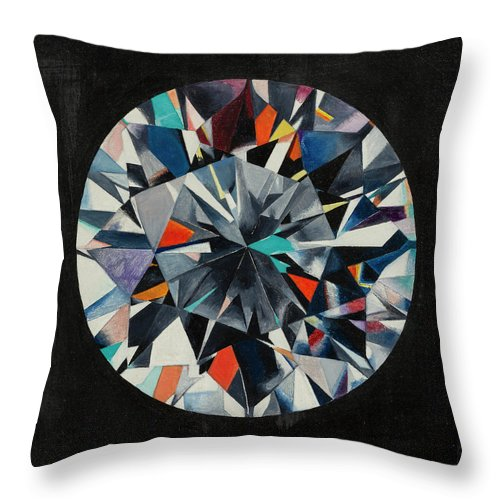 Diamond Throw Pillow featuring the painting The Diamond by Imre Muller