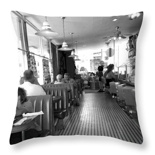 Diner Throw Pillow featuring the photograph The Diner by Wayne Potrafka