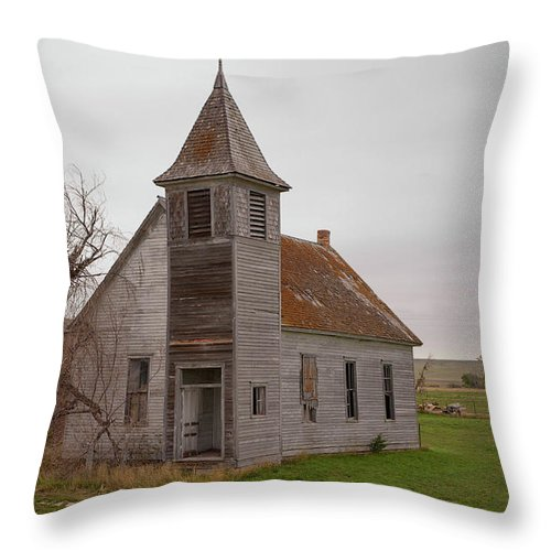 Church Throw Pillow featuring the photograph The Door Is Always Open by Grant Groberg
