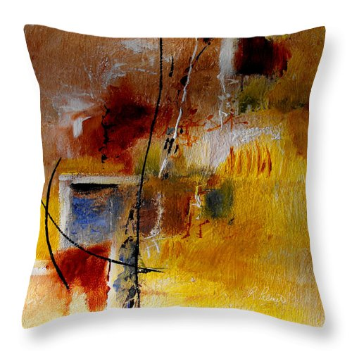 Abstract Throw Pillow featuring the painting The Door Will Be Opened by Ruth Palmer