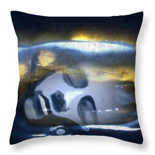 Dream Sky Universe Methaphysics Aura Afterlife Throw Pillow featuring the digital art The Dream by Veronica Jackson
