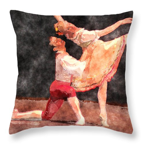 Ballet Throw Pillow featuring the photograph The Duo by Donna Bentley