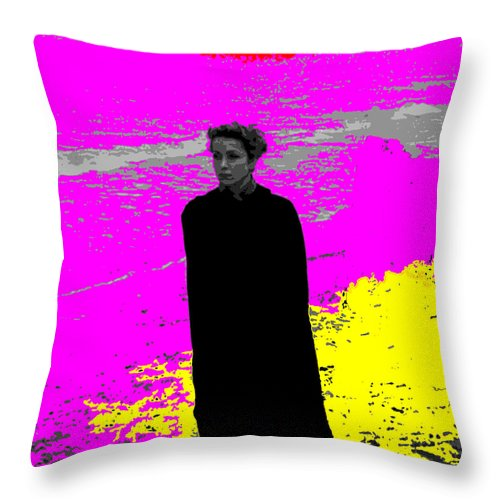 Square Throw Pillow featuring the digital art The Earrings Of Madame De... by Eikoni Images