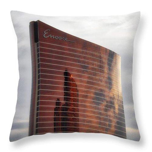 Las Vegas Throw Pillow featuring the photograph The Encore by Todd Dunham
