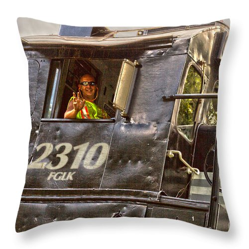 Engine Throw Pillow featuring the photograph The Engineer by William Norton