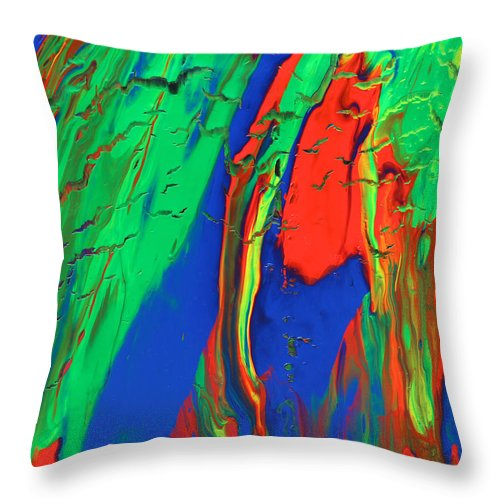 Fusionart Throw Pillow featuring the painting The Escape by Ralph White