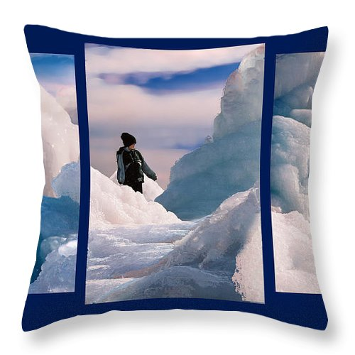 Landscape Throw Pillow featuring the photograph The Explorers by Steve Karol