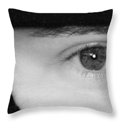 Eyes Throw Pillow featuring the photograph The Eyes Have It by Christine Till