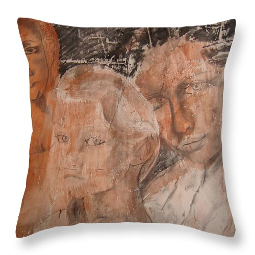 Beautiful Throw Pillow featuring the drawing The Eyes of Alianna by J Bauer