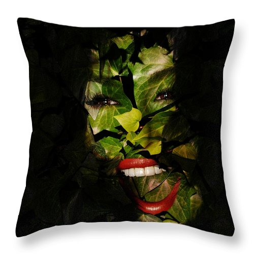 Clay Throw Pillow featuring the photograph The Eyes Of Ivy by Clayton Bruster