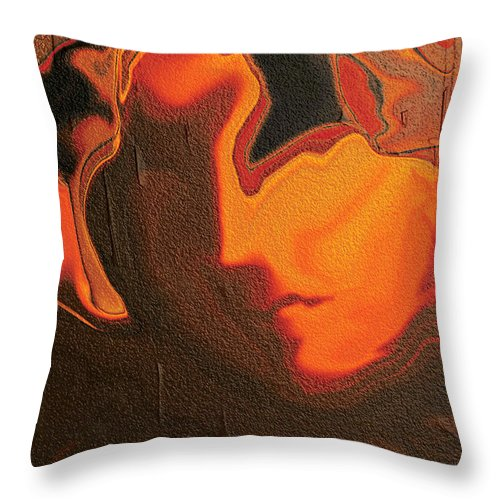 Abstract Throw Pillow featuring the digital art The Face 2 by Rabi Khan