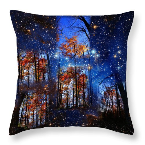 Deep Space Throw Pillow featuring the photograph The Face Of Forever by Dave Martsolf