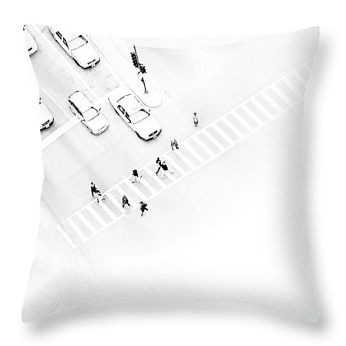 White Throw Pillow featuring the photograph The Faceless by Dana DiPasquale