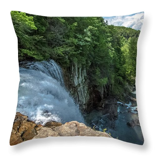 Falls Throw Pillow featuring the photograph The Falls by Mike Dunn