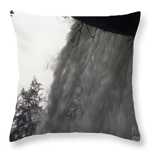 Waterfalls Throw Pillow featuring the photograph The Falls by Richard Rizzo