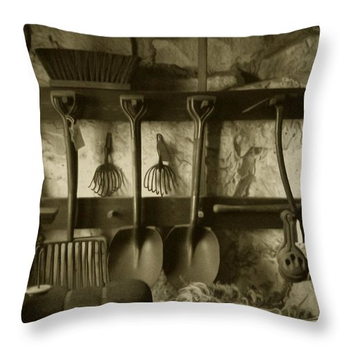 Farming Throw Pillow featuring the photograph The Farmer's Toolshed by RC DeWinter