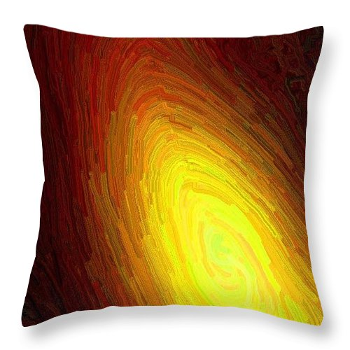 Flame Throw Pillow featuring the digital art The Flame by April Patterson