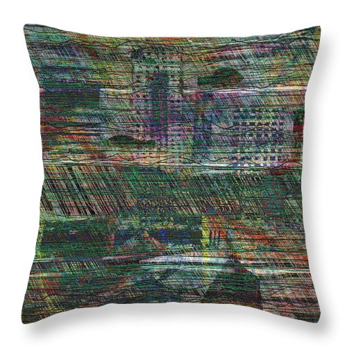 Noah Throw Pillow featuring the digital art The Flood by Andy Mercer