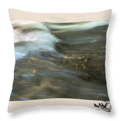 River Throw Pillow featuring the photograph The Flow by Sherman Perry
