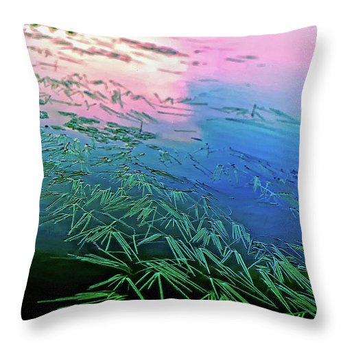 Wilderness Throw Pillow featuring the photograph The Flow by Steve Harrington