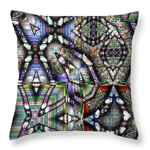 Abstract Throw Pillow featuring the painting The Four Horsemen Of The Apocalypse by RC DeWinter