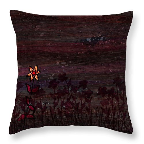 Abstract Throw Pillow featuring the digital art The Freak by Rachel Christine Nowicki