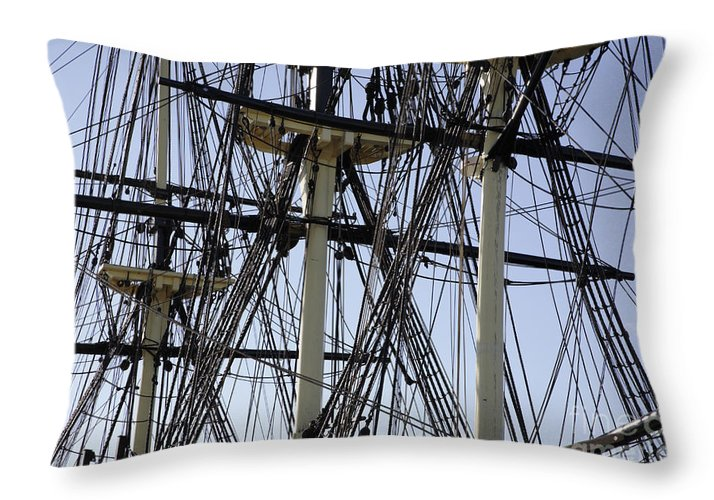 Salem Throw Pillow featuring the photograph The Friendship Of Salem Tall Ship In Salem Massachusetts Usa by Erin Paul Donovan