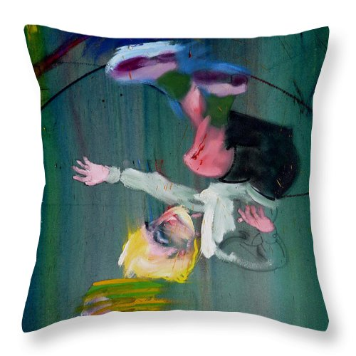 Fall Throw Pillow featuring the painting The Fruit Machine Stops Detail by Charles Stuart