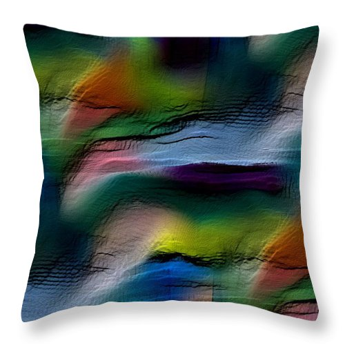 Abstract Throw Pillow featuring the digital art The Future Looks Bright by Ruth Palmer