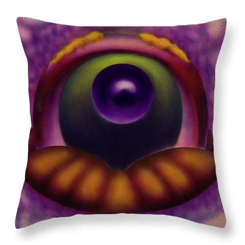 Fantasy Landscape Throw Pillow featuring the painting The Future by Mike Rector