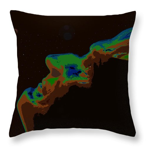 Future Throw Pillow featuring the painting The Future Of Man by David Lee Thompson