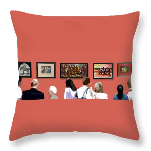 Art Throw Pillow featuring the digital art The Gallery by Arline Wagner