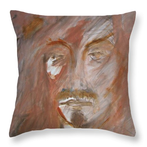 Abstract Throw Pillow featuring the painting The Gambler by Judith Redman