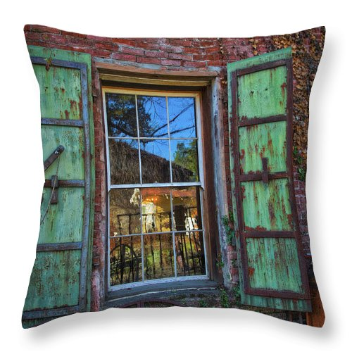 The Garden Window Throw Pillow featuring the photograph The Garden Window by Mitch Shindelbower