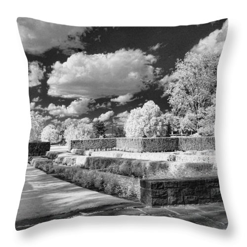 Infrared Throw Pillow featuring the photograph The Gardens In Ir by Michael McGowan
