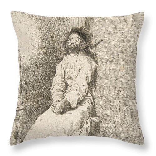 The Garroted Man Throw Pillow For Sale By Francisco Goya