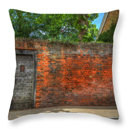 Northgate Throw Pillow featuring the digital art The Gate by Nigel Bangert