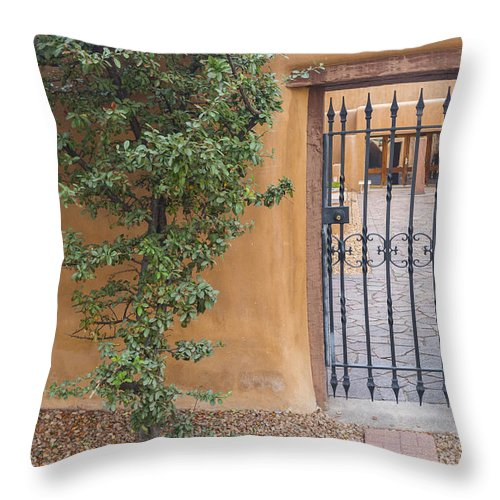 New Mexico Throw Pillow featuring the photograph The Gateway by Gary Lengyel