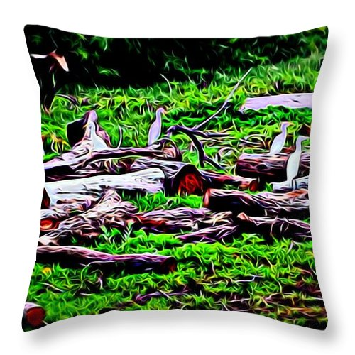 Landscape Throw Pillow featuring the photograph The Gathering by Kristalin Davis