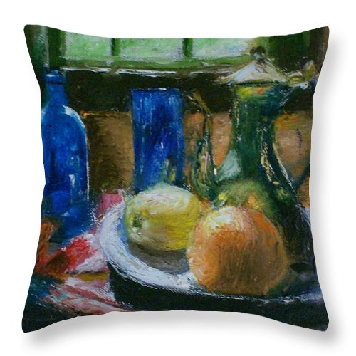 Origianl Throw Pillow featuring the painting The Gathering by Stephen King