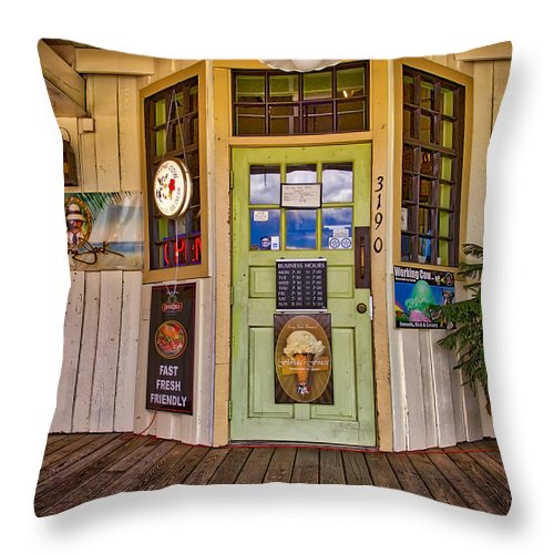 The General Store Throw Pillow featuring the photograph The General Store by John McCuen