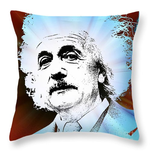 The Genius Mind Throw Pillow featuring the painting The Genius Mind by John Malone