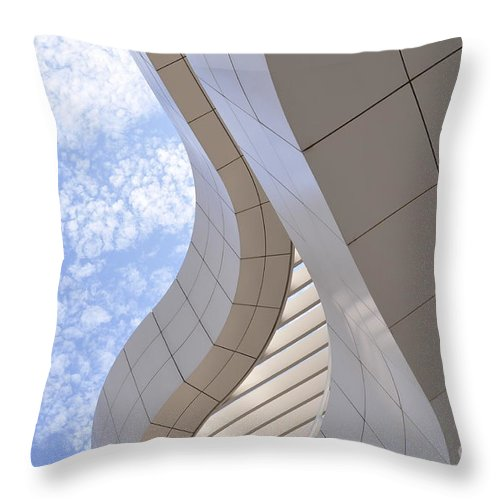 Clay Throw Pillow featuring the photograph The Getty by Clayton Bruster