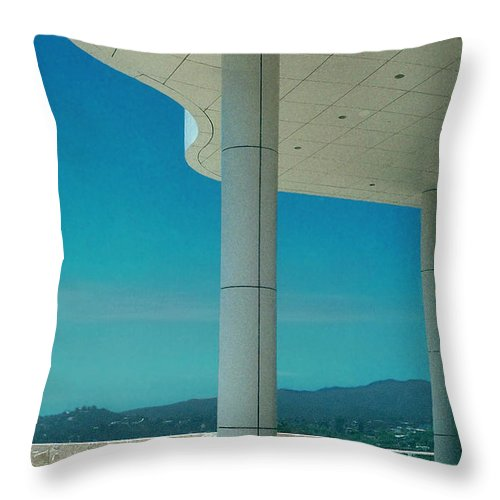 Architecture Throw Pillow featuring the photograph The Getty Panel 2 Of Triptyck by Steve Karol