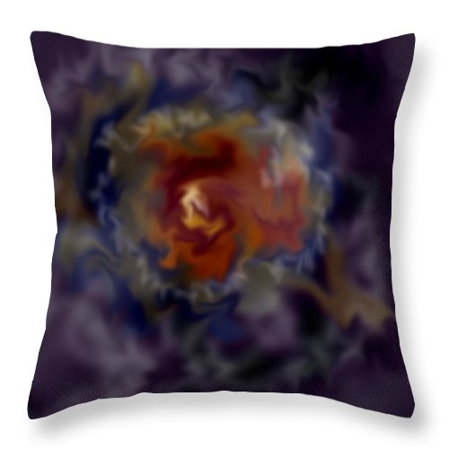Cosmos Throw Pillow featuring the painting The God Particle by Anne Norskog