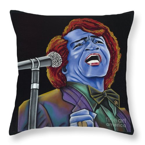 Blue Painting Throw Pillow featuring the painting The Godfather by Nannette Harris