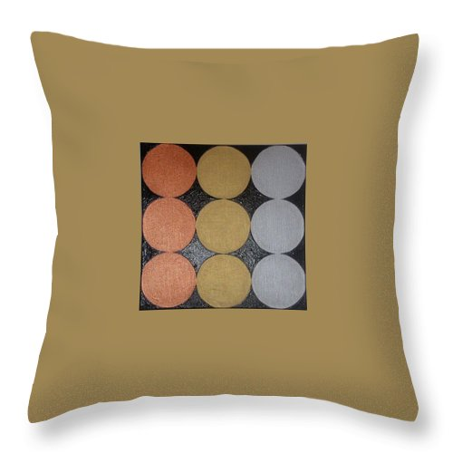 Black Throw Pillow featuring the painting The Golden Age by Gay Dallek