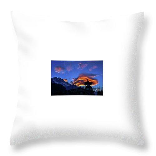 Golden Light Throw Pillow featuring the photograph The Golden Light Of Nepal by Ryan Martin